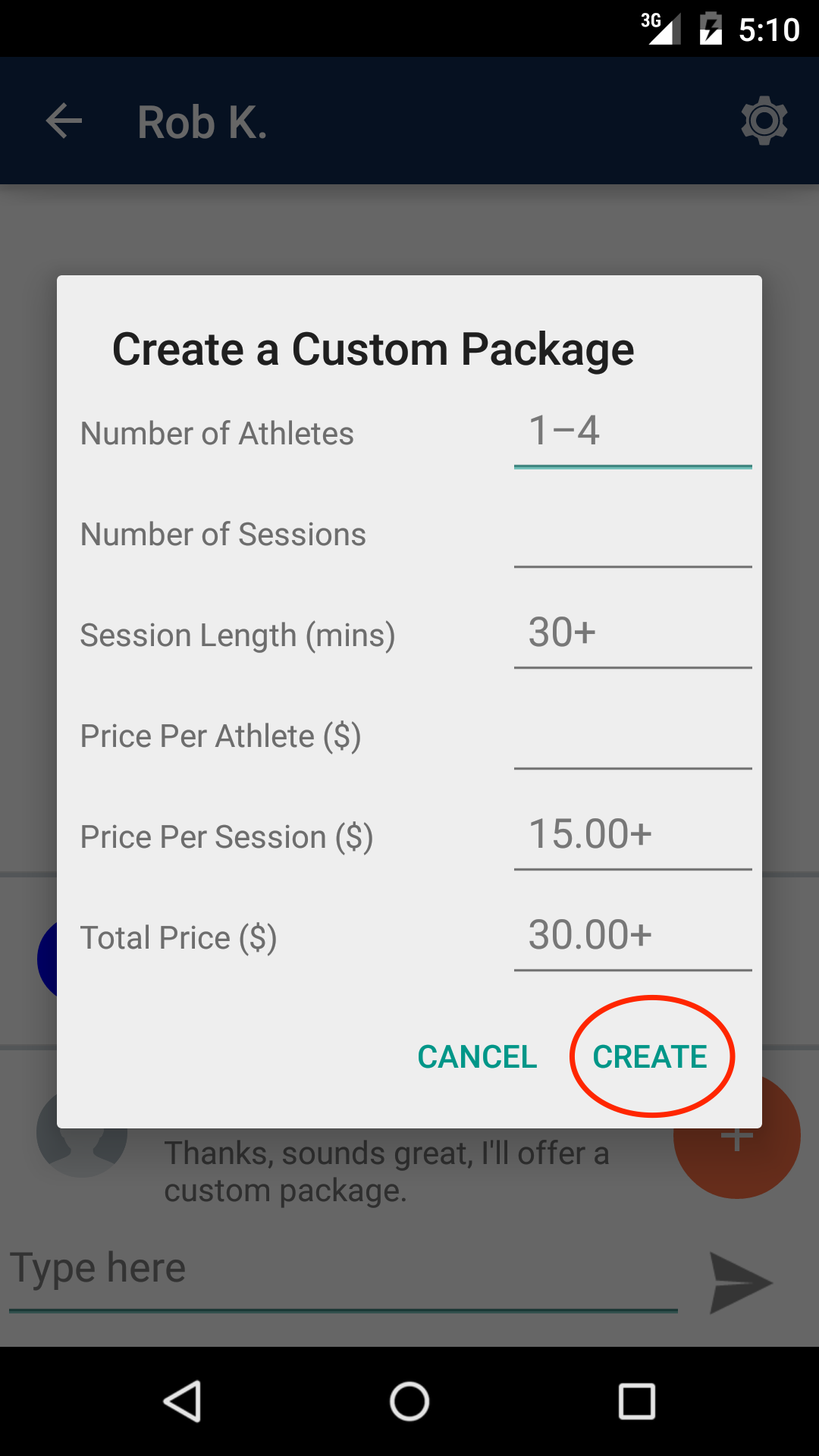 Offer Custom Package (Android)