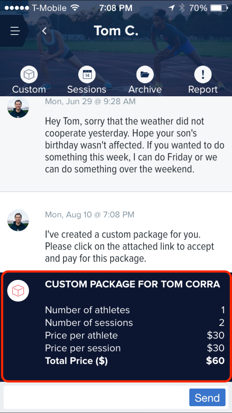 Custom Package in Inbox (iOS)