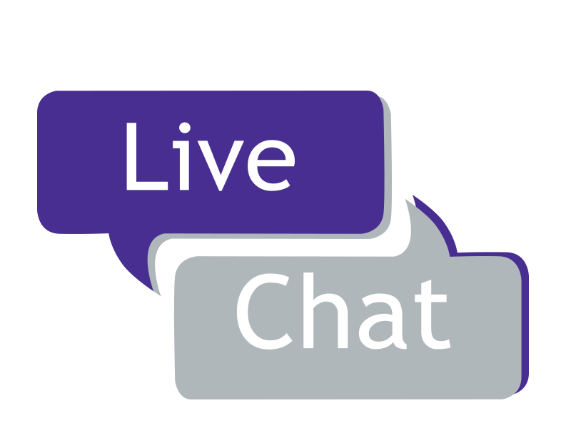 Contact us by live chat